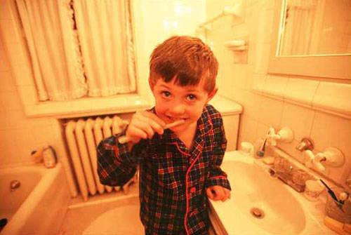 Photo: Cole Sartore brushes his teeth.