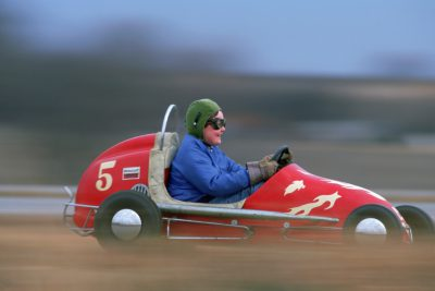 "Photo: Cole Sartore in a ""midget racer"" (Nebraska)."