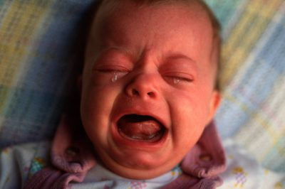 Photo: Baby Ellen Sartore belts out her discontent.