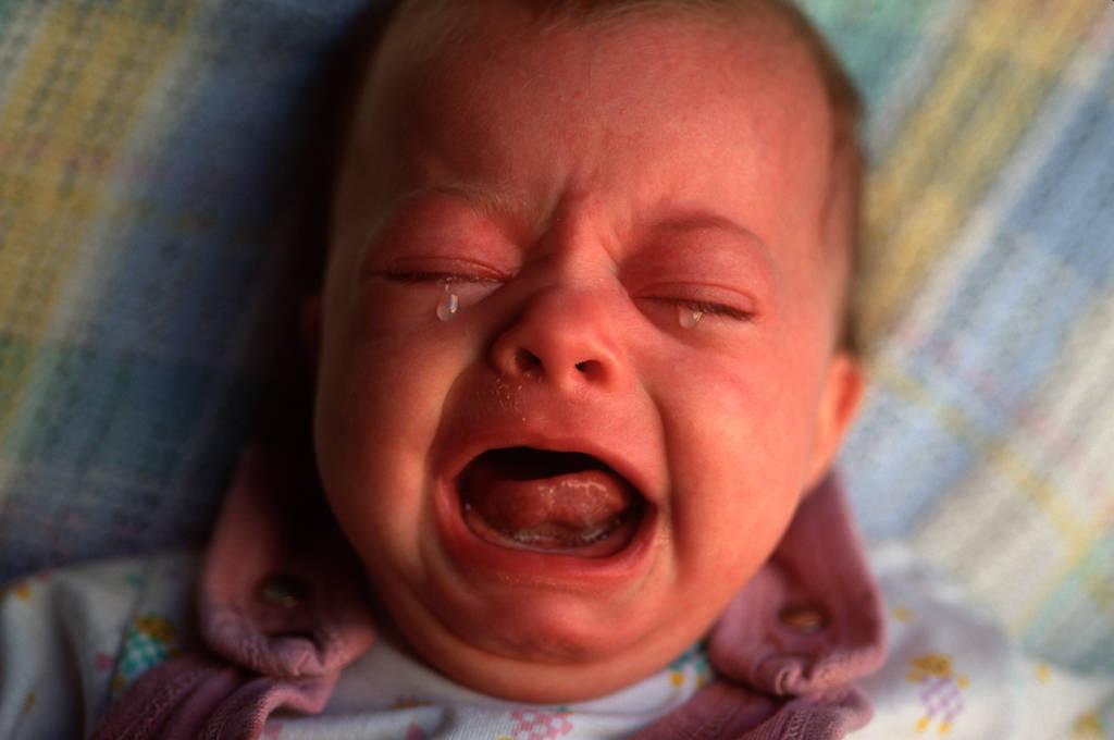 Photo: Baby Ellen Sartore belts out her discontent.