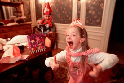 Photo: Ellen Sartore signals her approval of a birthday party.