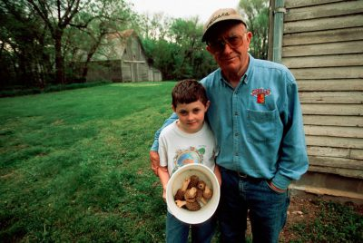 Photo: Cole Sartore and his grandfather John Sartore after a mushroom hunt.