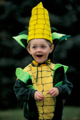 Photo: Cole Sartore as Corn Boy on Halloween.