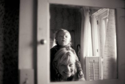 Photo: Jeannie Vestecka and a boy