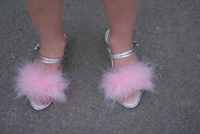 Photo: Ellen Sartore shows off her princess shoes.