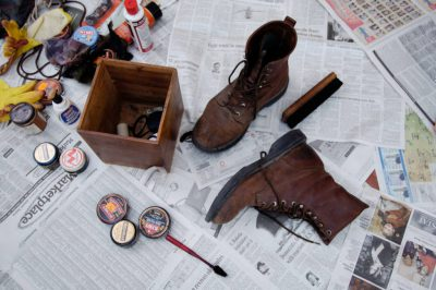 Photo: Joel Sartore's boots wait for a shine outside his home in Lincoln, Nebraska.