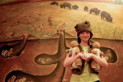 Photo: A young girl dressed up as a prairie dog at the Lincoln Children's Museum in Nebraska.