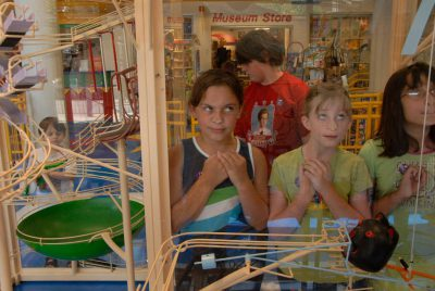 Photo: Children watch games at the Lincoln Children's Museum in Nebraska.