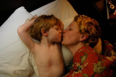 Photo: A mother and her child cuddle at their home in Lincoln, Nebraska.
