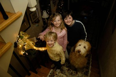 Photo: Siblings pose for a holiday picture.