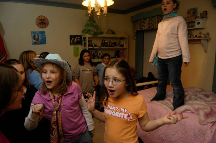 Photo: Friends have fun at a 10-year-old's birthday party.