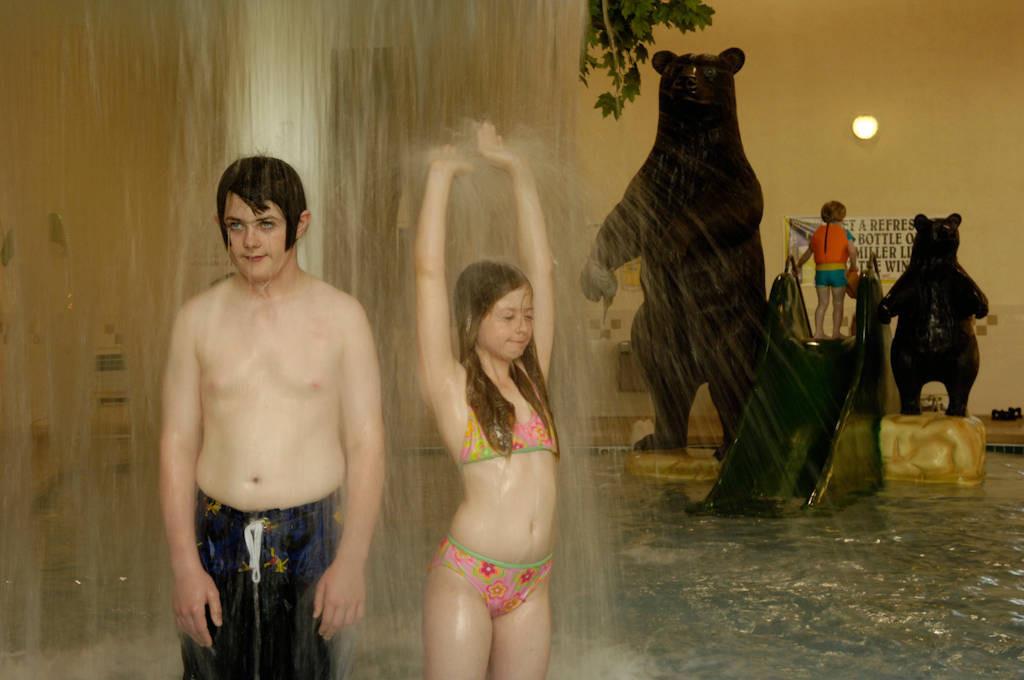 Photo: Kids play at an indoor pool in Prairie du Chien, Wisconsin.
