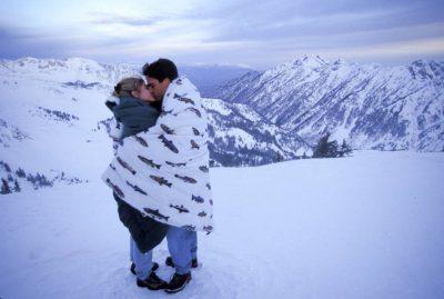 Photo: A couple at Snowbird Ski Resort in Utah.