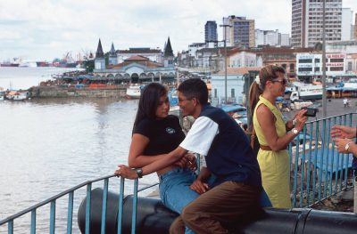 Photo: Tourists in Belem, Brazil on the Amazon River.