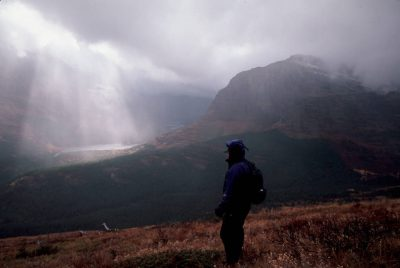 Photo: Backpackers in Glacier National Park.