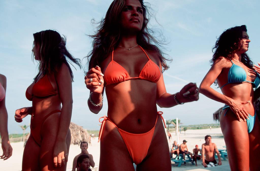 Photo: Sunbathers at Miami, Florida's South Beach.