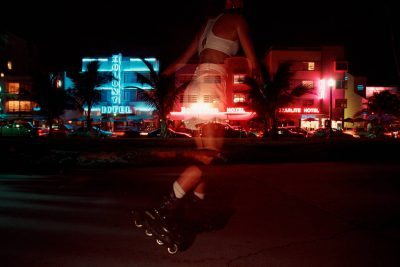 Photo: Rollerbladers in Miami's South Beach district.