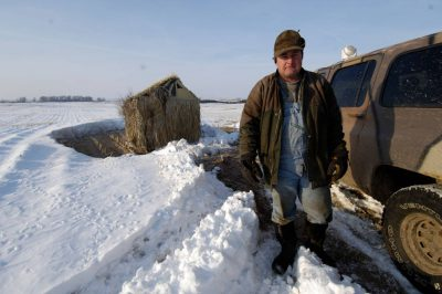 Photo: This rancher makes part of his living leading wildlife watching tours on his land in Nebraska.