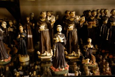 Photo: Souvenir statues of St. Francis for sale in Assisi, Italy.