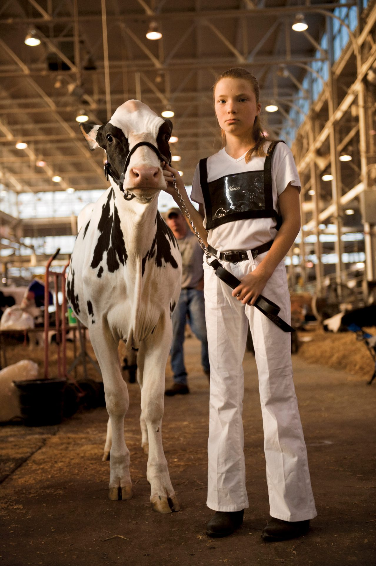 Photo: A teenager and her calf took top honors at the Indiana State Fair.