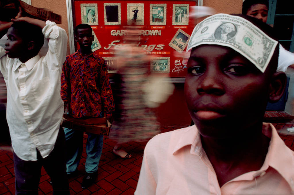 Photo: Young kids tap dance for money on Bourbon Street.