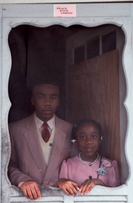 Photo: Portrait of two young New Orleans residents, just after church.