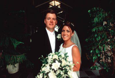 Photo: A bride and groom on their wedding day in Nebraska.