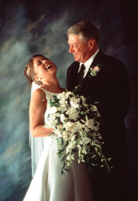 Photo: A bride with her father on her wedding day in Nebraska.
