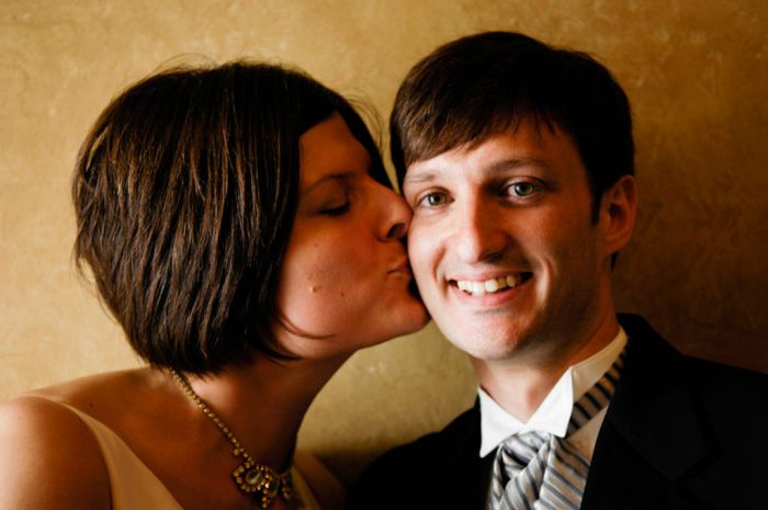 Photo: A bride kisses her groom on their wedding day in Lincoln, Nebraska.