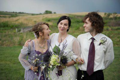 Photo: A bride with her children at a Nebraska wedding.