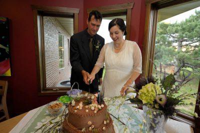 Photo: A Nebraska couple on their wedding day.