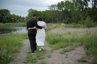 Photo: A Nebraska couple on their wedding day.