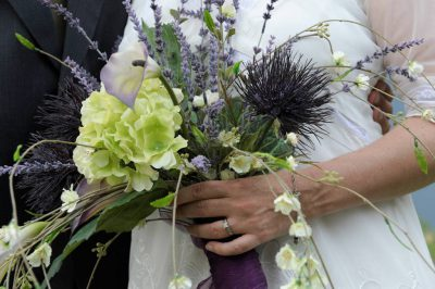 Photo: A bride's bouquet at a Nebraska wedding.
