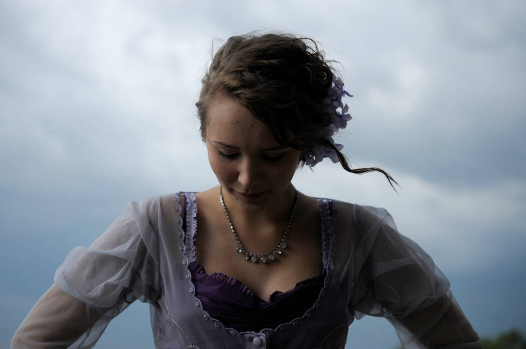 Photo: A sixteen year-old girl at her mother's wedding in Nebraska.