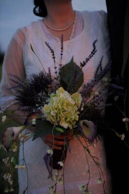 Photo: A bride's bouquet at a Nebraska wedding.