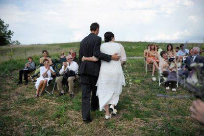 Photo: An outdoor wedding in Nebraska.
