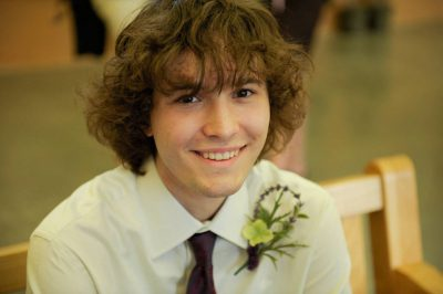 Photo: An eighteen year-old boy at a Nebraska wedding.