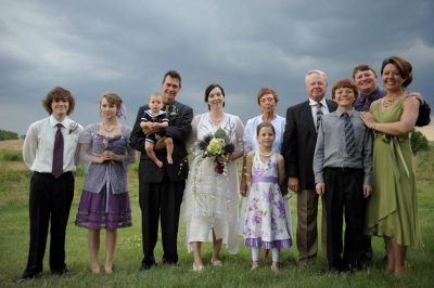 Photo: An outdoor wedding in Nebraska.