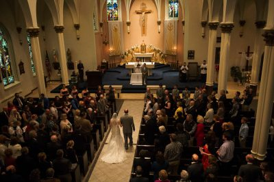 Photo: A wedding at St. Mary's Church in Lincoln, Nebraska.
