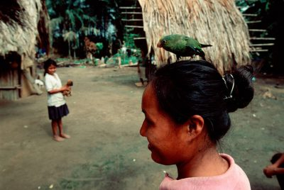 Photo: Natives in a village on the edge of Madidi National Park along the Beni River, a tributary of the Amazon, in Bolivia.