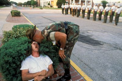 Photo: Basic training at Pensacola Naval Air Station in Florida.