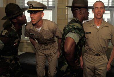 Photo: Basic training at Pensacola Naval Air Station in Florida.