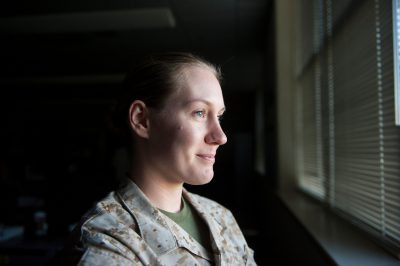 Photo: A military woman.