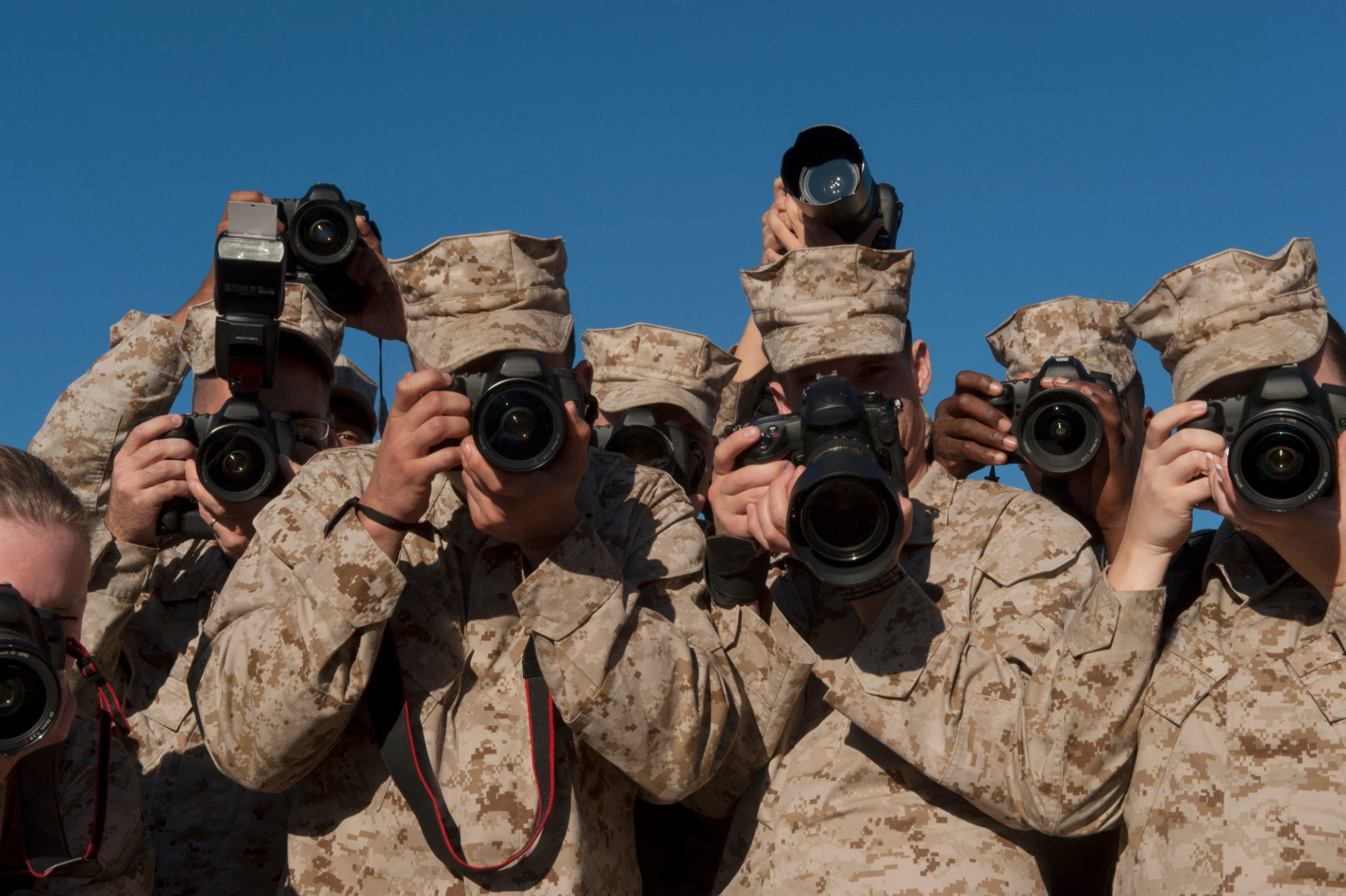 Photo: A group of military photographers.