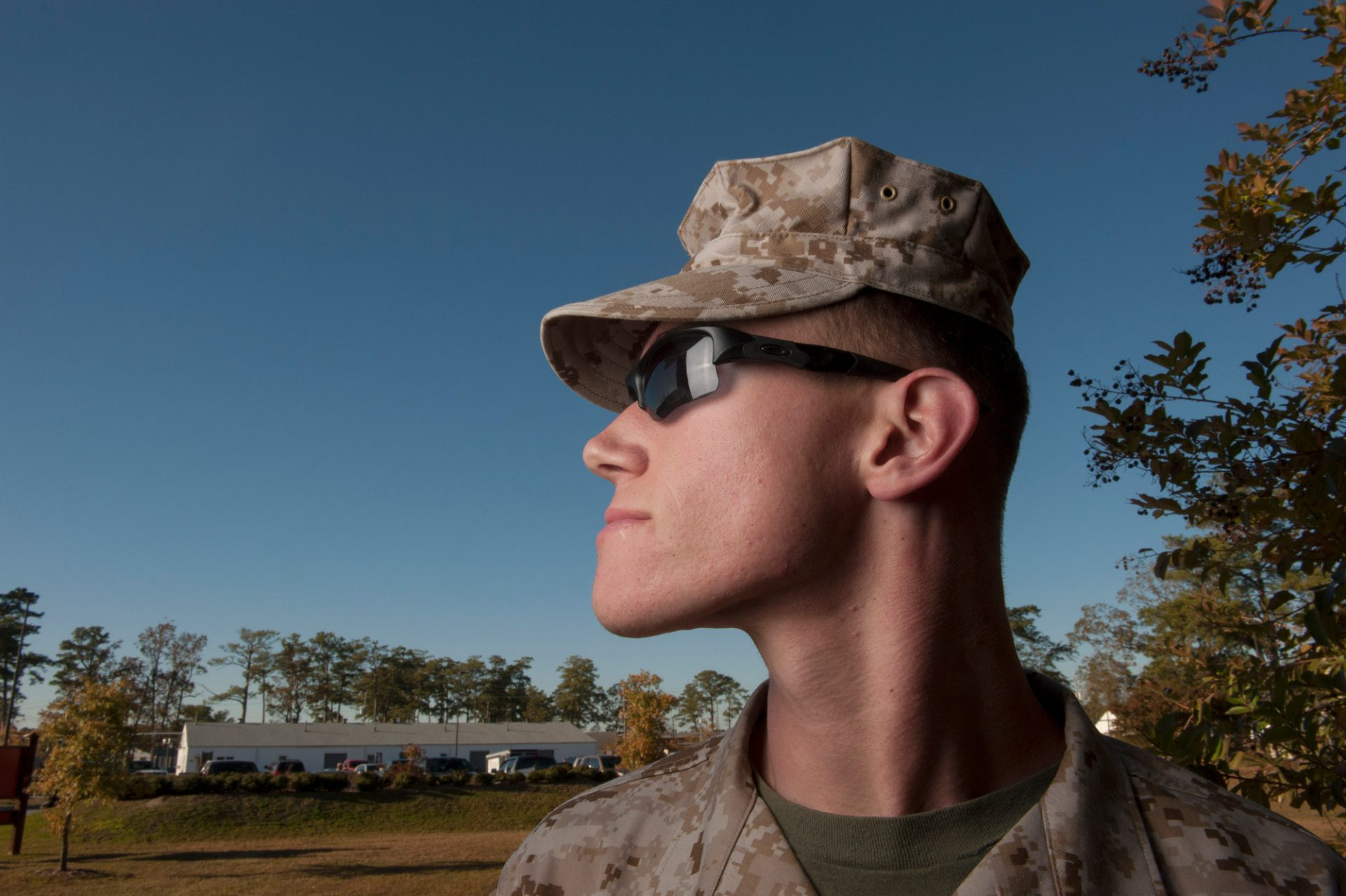 Photo: A portrait of a military man.