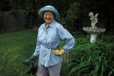 Photo: Faynell Meese shows off her garden.