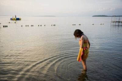 Photo: Swimming in Leech Lake near Walker, Minnesota.