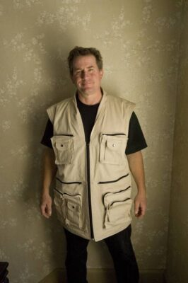 Photo: Joel Sartore with his custom made photo vest.