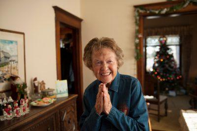 Photo: An elderly woman in her home in Lincoln, Nebraska.