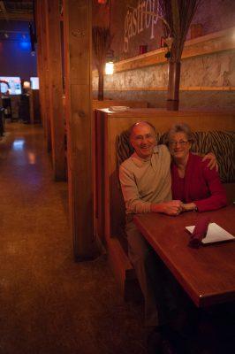Photo: A couple in a restaurant in Lincoln, Nebraska.